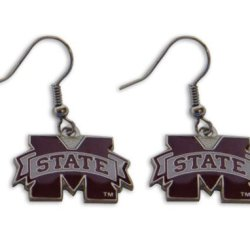 7L-Xfia-E91K - Mississippi State Bulldogs Dangle Logo Earring Set Ncaa Charm Gift