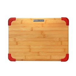 Kitchenaid Badge Logo Cutting Board, Bamboo, 11 By 14 Inch, Red