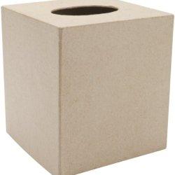 """Paper Mache Tissue Box-5""""X5"""""""