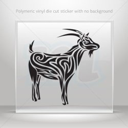 Decals Stickers Tribal Goat Decor Motorbike Bicycle Vehicle Atv Racing Black (24 X 22.3 In)