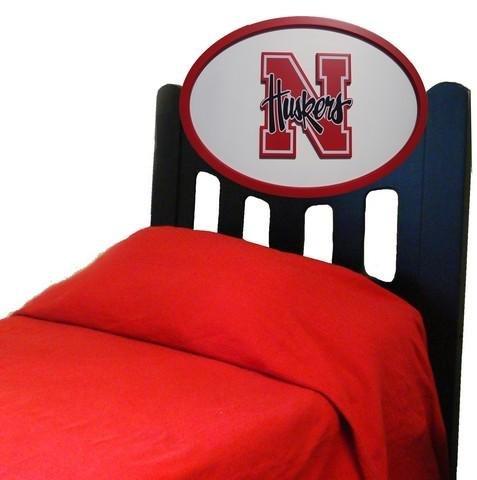 Image of Nebraska Cornhuskers Kids Wooden Twin Headboard With Logo (C0526B-Nebraska)