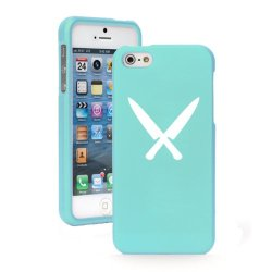 Apple Iphone 4 4S Light Blue Snap On 2 Piece Rubber Hard Case Cover Chef Knives