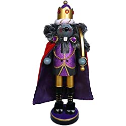 Christmas Nutcracker Mouse King Purple Sparkle With Colored Rhinestones 10 Inch Exclusive Design