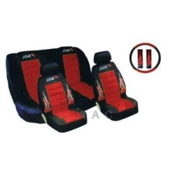 Type X Racing - Front & Rear Bucket Lowback Seat Covers - Red Type X Racing - Front & Rear Bucket L