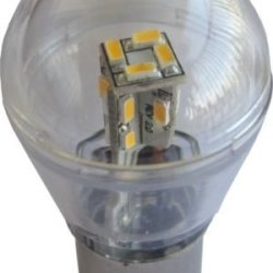 Pack Of Two (2), Led 12V White Omni Bulb Ba15D Clear Cover