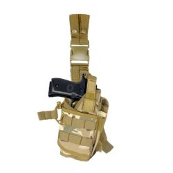Armstac® Tornado Drop Leg Holster [S5] Tactical Pistol Holster With Quick Detach Buckle Clips, Double Adjustable Leg Straps, Single Magazine Pouch, In Camo Color + Armstac® Lifetime Warranty & Tech Support