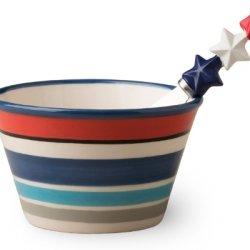 Boston International Bowl And Spreader Set, Patriotic Picnic