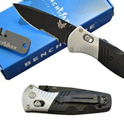 Benchmade 586Sbk Mini Barrage Assisted Opening Knife With Free Benchmade Sharpener