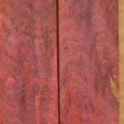 """Buckeye Burl Stabilized Pink (2 Pc) Mini Knife/Razor Scale 3/16""""X1""""X5"""" Nk1"""