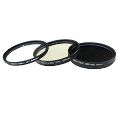 New View 55Mm Photo Essentials Kit With Uv Protector,Circular Polarizing Glass Filter,Variable Nd Filter 3Pcs Camera Lens Filter Kit For Sigma Macro 50Mm F/2.8 Ex Dg,55-200Mm F/4-5.6 Dc(Canon Mount);Sigma Macro 50Mm F/2.8 Ex Dg (Nikon Bayonet);Sigma 50-20