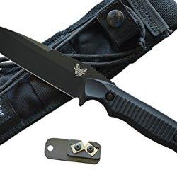 Benchmade 140Bk Nimravus Fixed Blade Knife W/ Free Benchmade Knife Sharpener