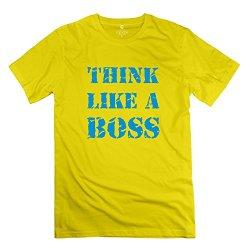 Think Like Boss Fashion Men T Shirt Size Xxl Color Yellow