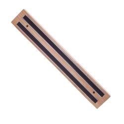 Tablecraft Wood Base Magnetic Bar Knife Holder, 12 Inch -- 1 Each.