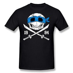 Custom O-Neck Fashion Skull Knife Men T-Shirts Size Xxl Black