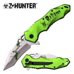 "Z-Hunter ""Grave Silence"" Green Ao Knife - A Must Have For Zombie Hunters"