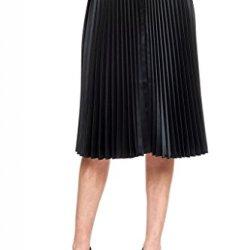 Womens Lori Michaels Stunning Knife Pleat Long Skirt Onyx Black 10