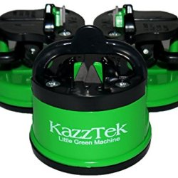 Kitchen Knife Sharpener By Kazztek - Best Knife Sharpening System For Blades And Scissors - Suction Cup Allows Easy One Handed Sharpening For Home And Kitchen Iq - Best Mini Knife And Scissor Sharpener On Amazon