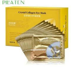 Pilaten Crystal Collagen Eye Mask Crystal Eyelid Patch,Anti Wrinkle Moisture 10Pairs/Lot