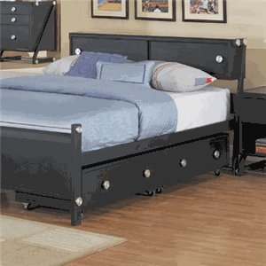 Image of Set of 2 Kids Under Bed Storage Drawers in Textured Black Finish - Z-Bedroom Collection (AZ00-46880x20486)