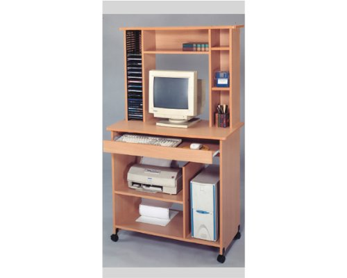 Picture of Comfortable Computer Desk with Cd Rack in Oak Finish ADS6035 (B004PWAMF2) (Computer Desks)