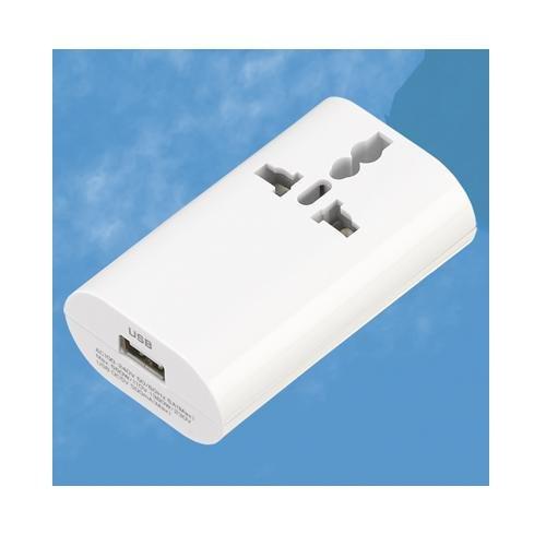 ヤザワ 海外用マルチ変換プラグ 差込口形状A・C・O・BF・SE・USB対応 HPM4WH