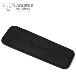 Laguiole En Aubrac Pca12 Black Leather Pocket For 11/12 Cm Knives - Knife Case - Quality Sheath