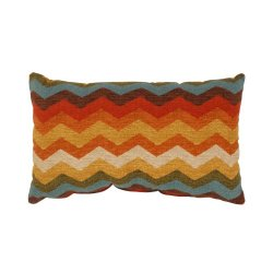 Pillow Perfect Panama Wave Rectangular Throw Pillow, Adobe