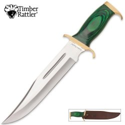 Timber Rattler Green Bowie With Leather Sheath