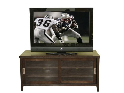 Image of Entertainment TV Stand Console Table - Chocolate Brown (VF_WI-88631-CHOCOLATE)