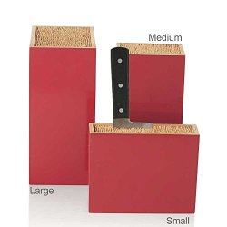 "Bamboo Box Knife Holder, Red, Small 7.75""L X 2.5""W X5.75""H"