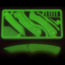 Trigger Knife Kit By Klecker Knives (Glow-In-The-Dark)