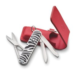 Victorinox Fashion Zebra Classic Pocket Knife With Pouch