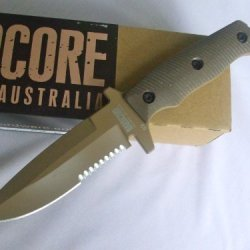 Hardcore Hardware Australia Mfk03-Gvh Dgc Tan Finish Tactical Fighting Survival Knife