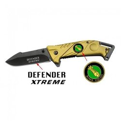 """New 7 1/2"""" Folding Spring Assisted Knife Gold"""