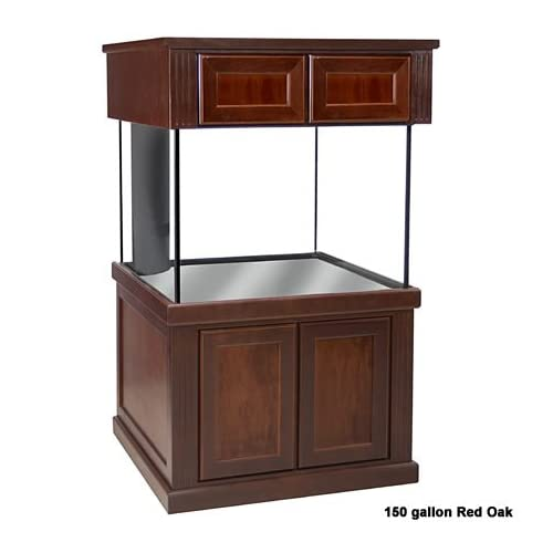 Deep Dimension Aquarium and Stand Kit 250 gallon Color: Red Oak
