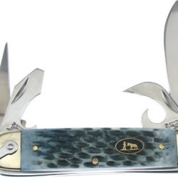 Frost Cutlery & Knives Bkh187Crb Blackhills Scout Pocket Knife With Gray Chip Rock Bone Handles