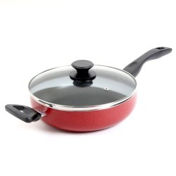 Oster 91112.02 Telford Covered Saute Pan, 10.25-Inch, Red