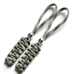 2 Air Force Abu (Desert Foliage) Paracord Zipper Pulls Or Knife Lanyards With Skull Alloy Bead
