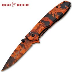 Rdx-8802-Or Trigger Czjku1G Assisted Red Aq39Fecsk Deer Knife - Orange Camo Folding Knife Edge Sharp Steel Ytkbio Tikos567 Bgf 6.5 Inch Overall Length. This Knife Has A Beautiful Forest Camo Finish. The Handle Is Very Easy To Grip. W1Qrujh This Knife Incl