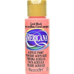 Decoart Americana Acrylic Paints Coral Blush 2 Oz. [Pack Of 8 ]