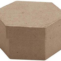 Dcc Mini Hexagon Box Paper-Mache, 3.5 X 2.5 X 1.5-Inch
