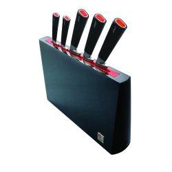 Richardson Sheffield 5-Piece One 70 Knife Set With Designer Block, Black