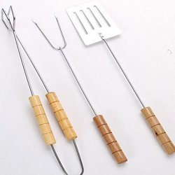 Crazy Shopping®Bbq Stainless Steel Shovel Tong Fork Roasting Tools Barbecue Knives And Forks