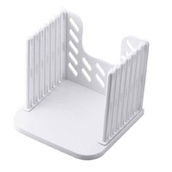 Mylife White Kitchen Bread Loaf Slicer Slicing Cutter Cutting Cuts Even Slices Guide Tool