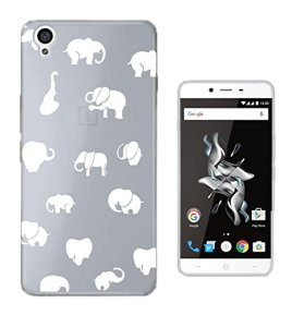 C0192-Cool-Fun-Playful-Multi-Elephants-Design-OnePlus-X-Fashion-Trend-CASE-Gel-Rubber-Silicone-All-Edges-Protection-Case-Cover
