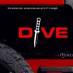 Dive Knife Decal