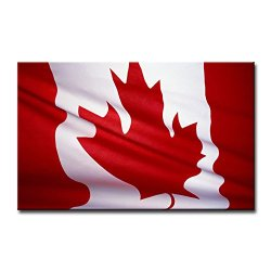Black White And Red Wall Art Painting Canada National Flag Pictures Prints On Canvas Abstract The Picture Decor Oil For Home Modern Decoration Print