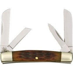 Rough Rider Miniature Congress Fold Knife, 440 Ss Blade, Amber Jigged Bone Handle Rr930