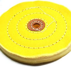 "Buffing Wheel 6"" - Premuim Hard - Yellow - 1/2"" Arbor"