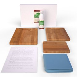 Enduring Bamboo 3 Piece Cutting, Carving, Chopping Boards Complete With Cutting Board Oil And Polishing Cloth, Complete Maintenance Instructions And Lifetime Guarantee